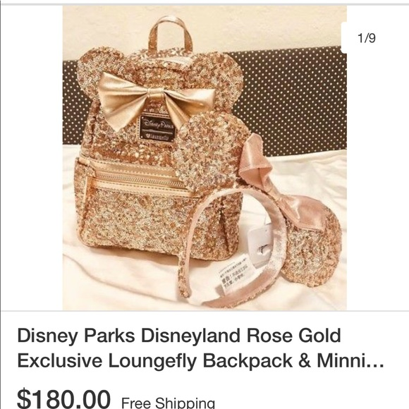 8dade9a6489 Sequin Rose Gold Disney backpack